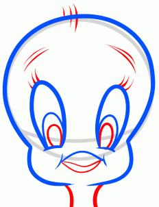 step color tweety draw art