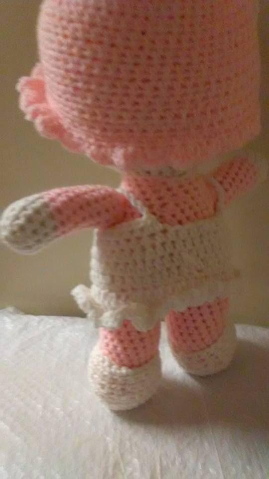 handmade baby doll gift present crocheted amigurumi shower
