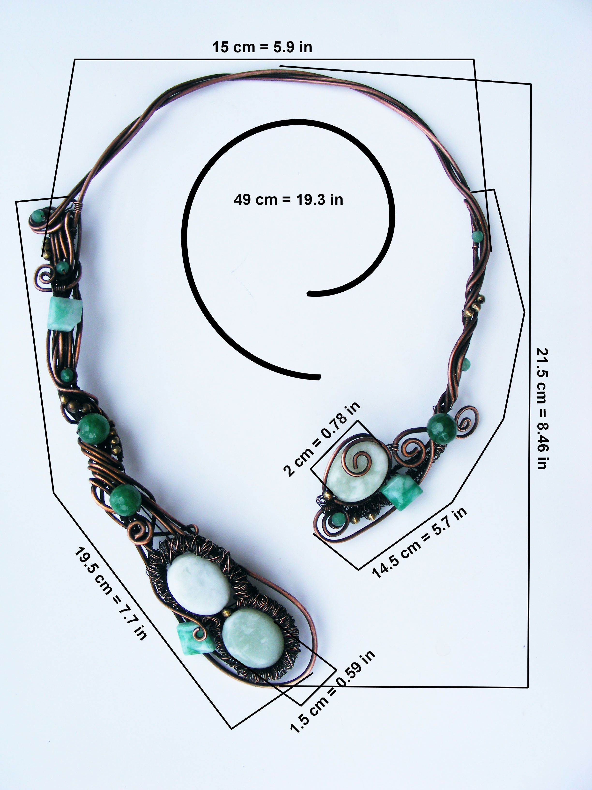 wire green open wrapped collar green_jade open_necklace white_jade jewelry necklace modern jade