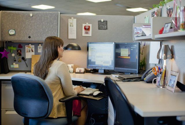 lighting cubicle workplaces tidy decorate