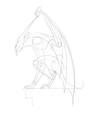 gargoyle creatures mythical draw art