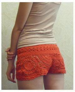 steps textile crochet goods shorts