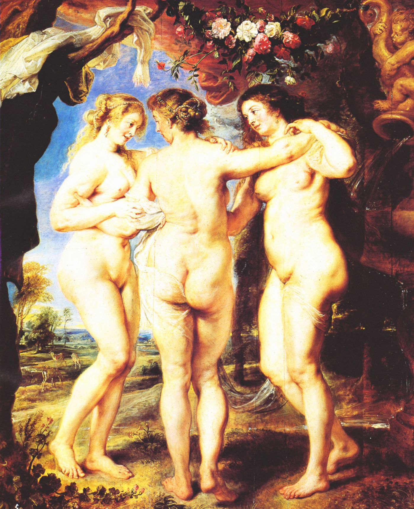 art painting erotic girls home modern