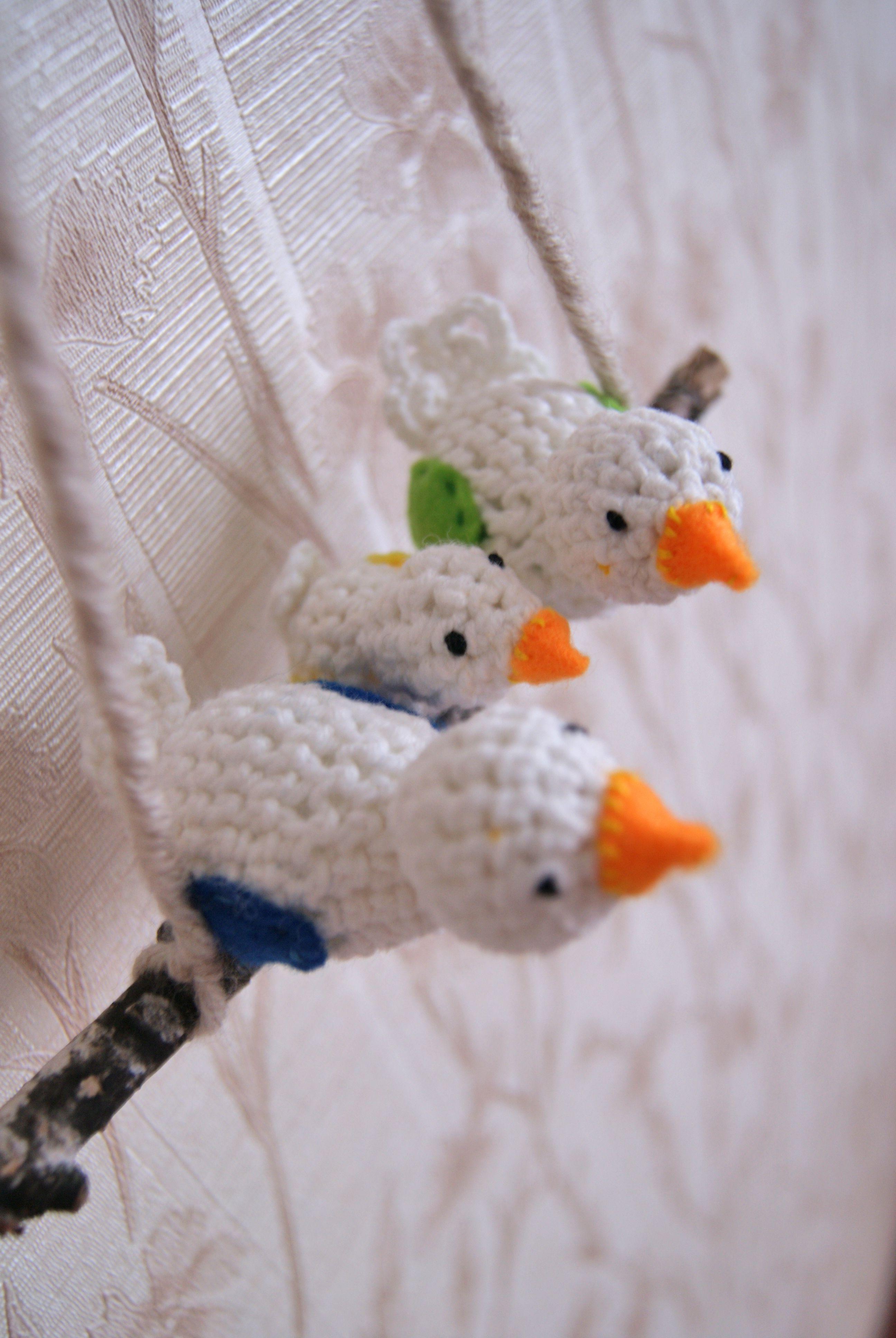 gift house birdhouse birds decoration knit weddinggift