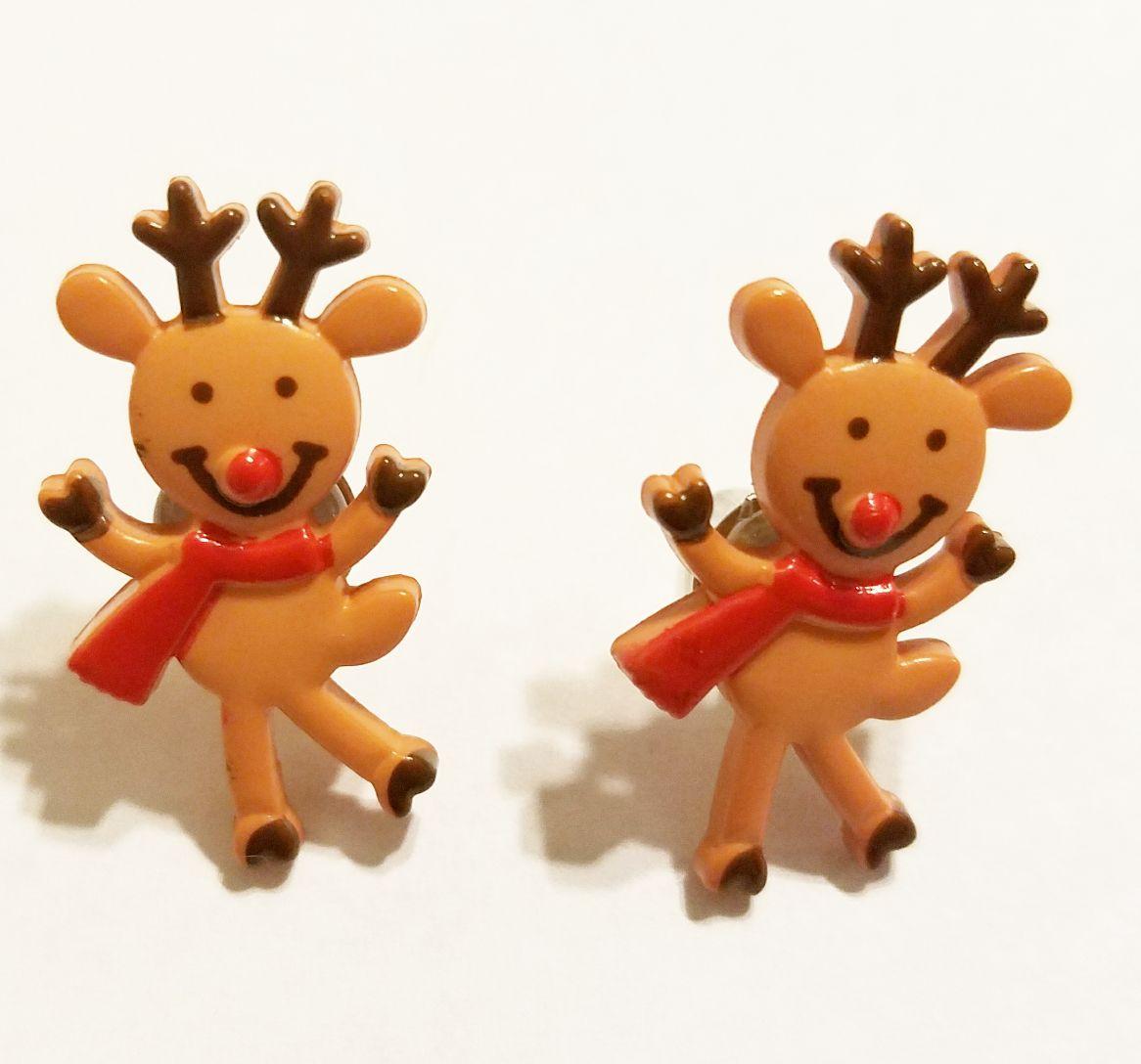 kriszcreations reindeer earrings jewelry winter