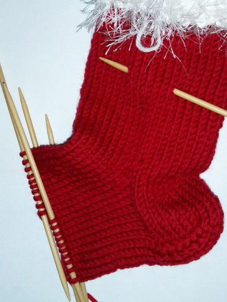 goods textile knit stocking christmas