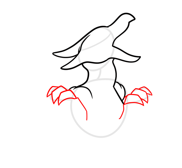 dragon baby step draw art