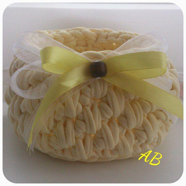 knit basket handmade handmadegift knittedbasket originalgift