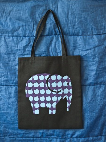 bag accessories elephant handmade painting