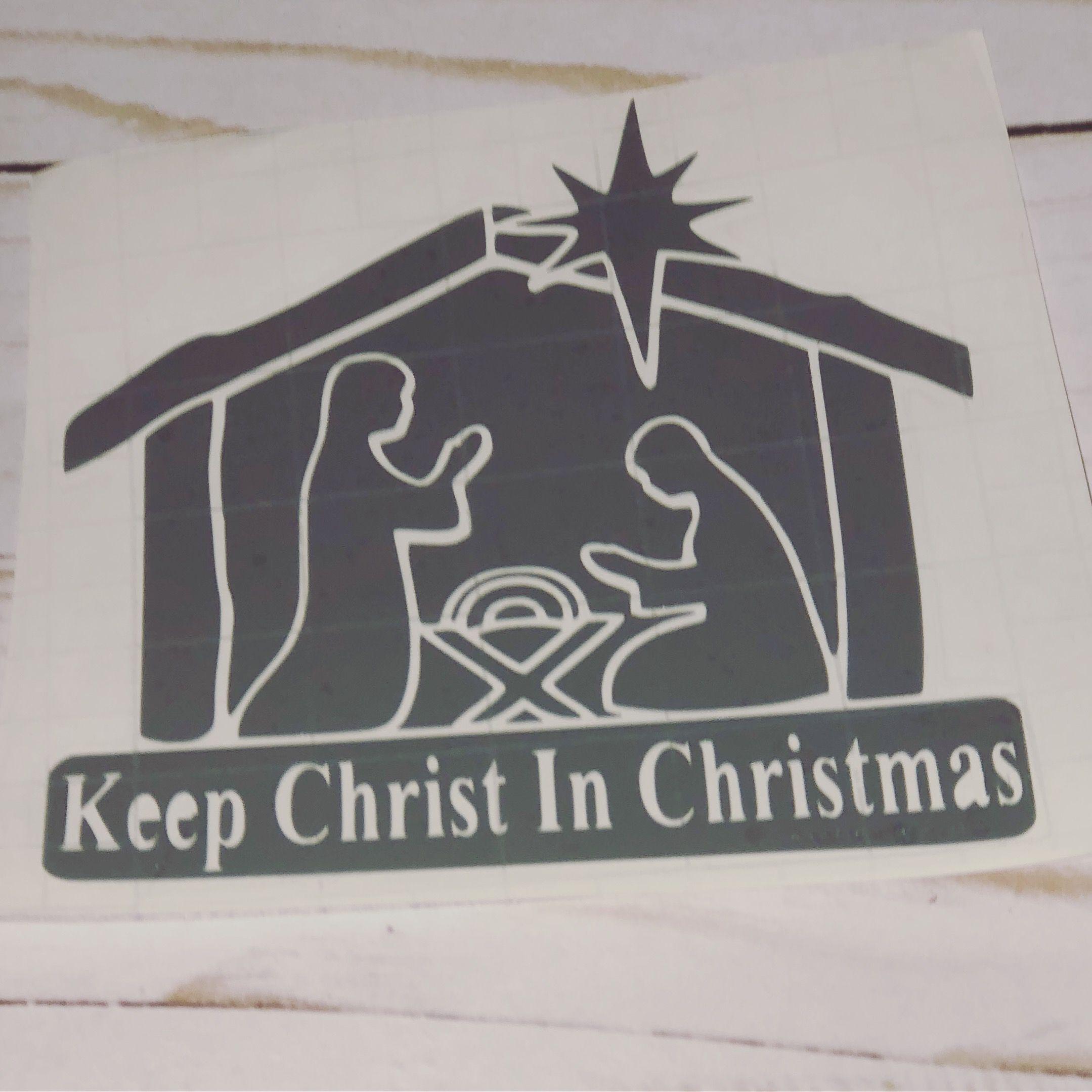 decal christmas christ keep