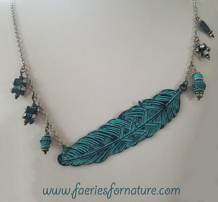 native american feather beaded patina indian tribal jewelry necklace ethnic navjeo