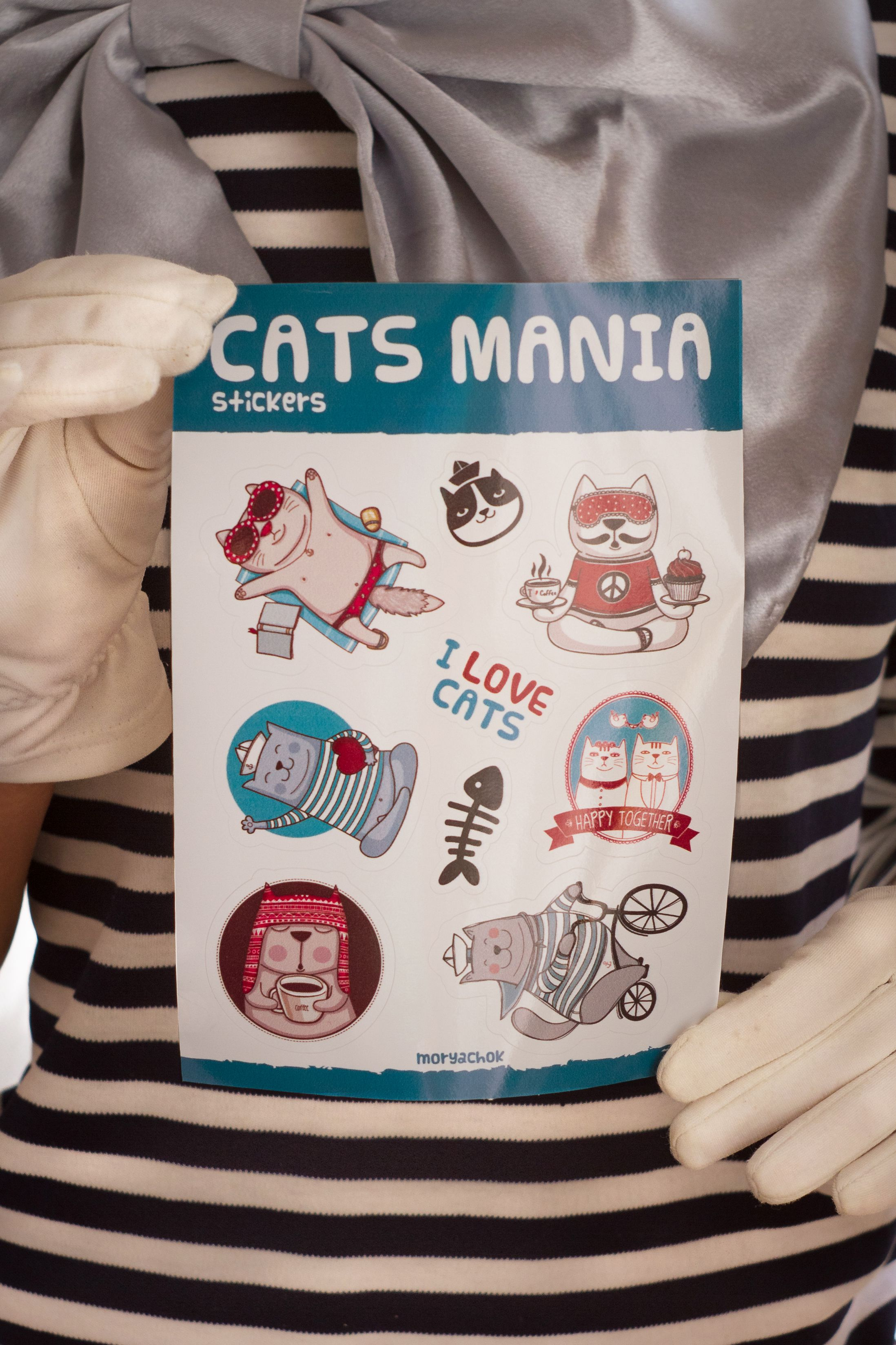 fish stickers cats mania
