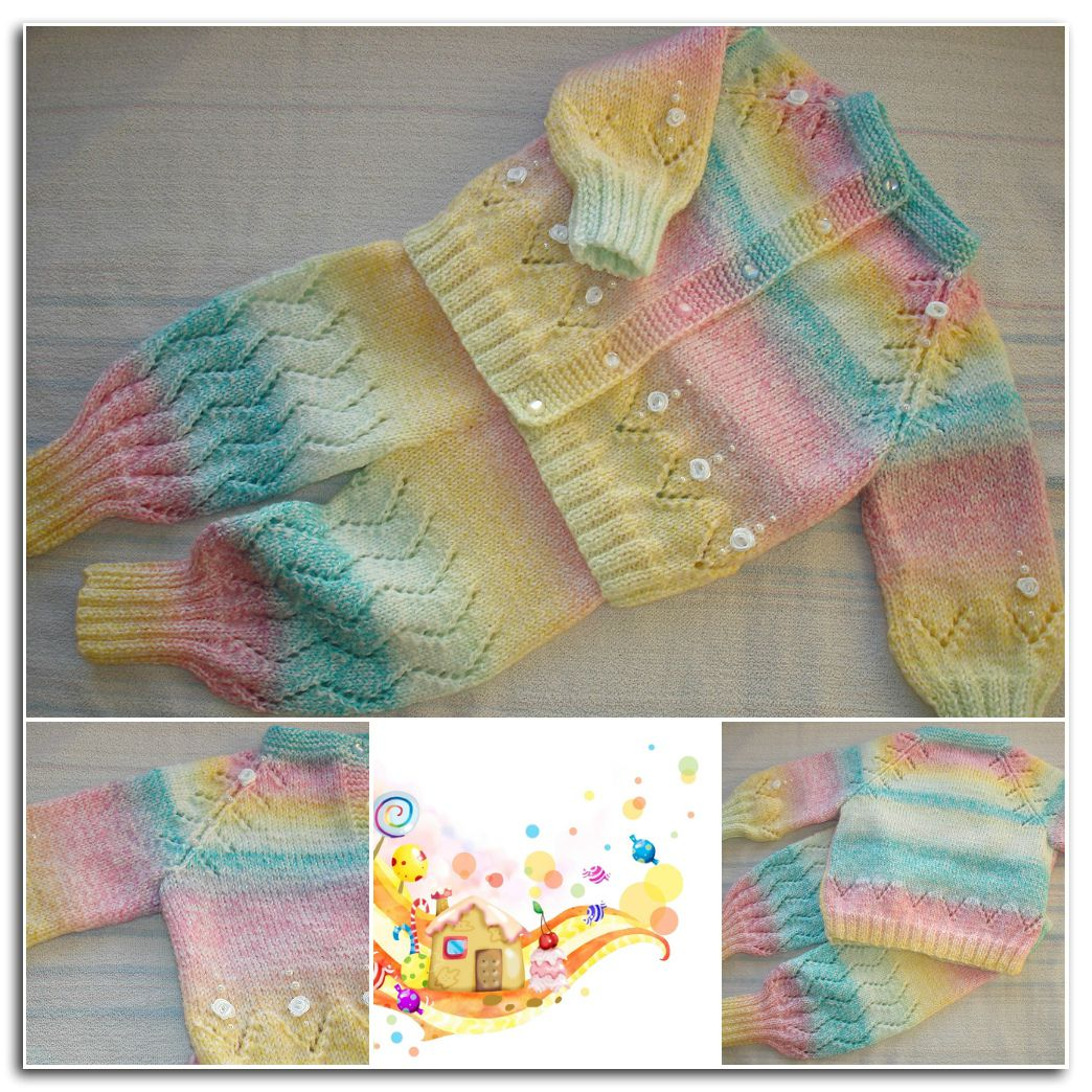candy girls knitted set