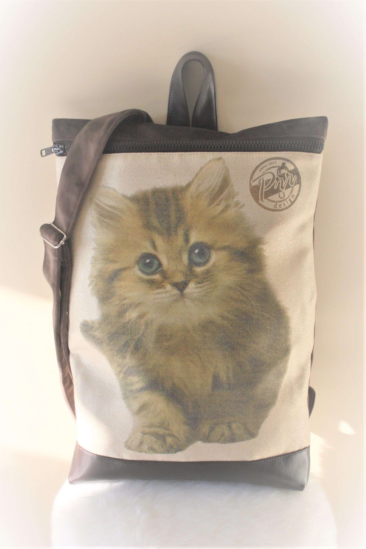gift cat cute pack backpack city friend lovers vegan best rucksack perfect cutest