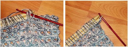 broomstick crochet textile goods loops