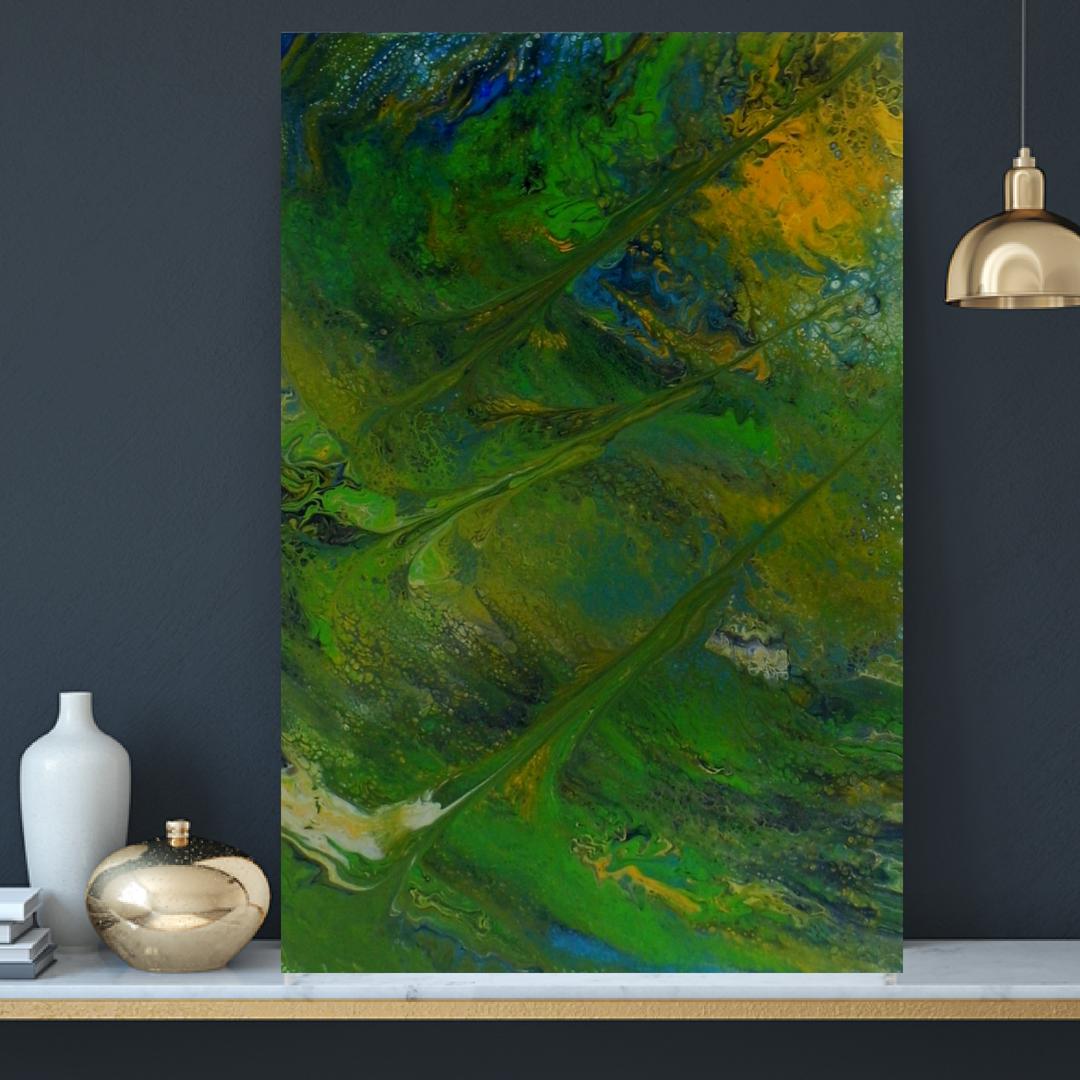 wallart etsyseller abstractart gennhaio moderndesign acrylipainting homedecor