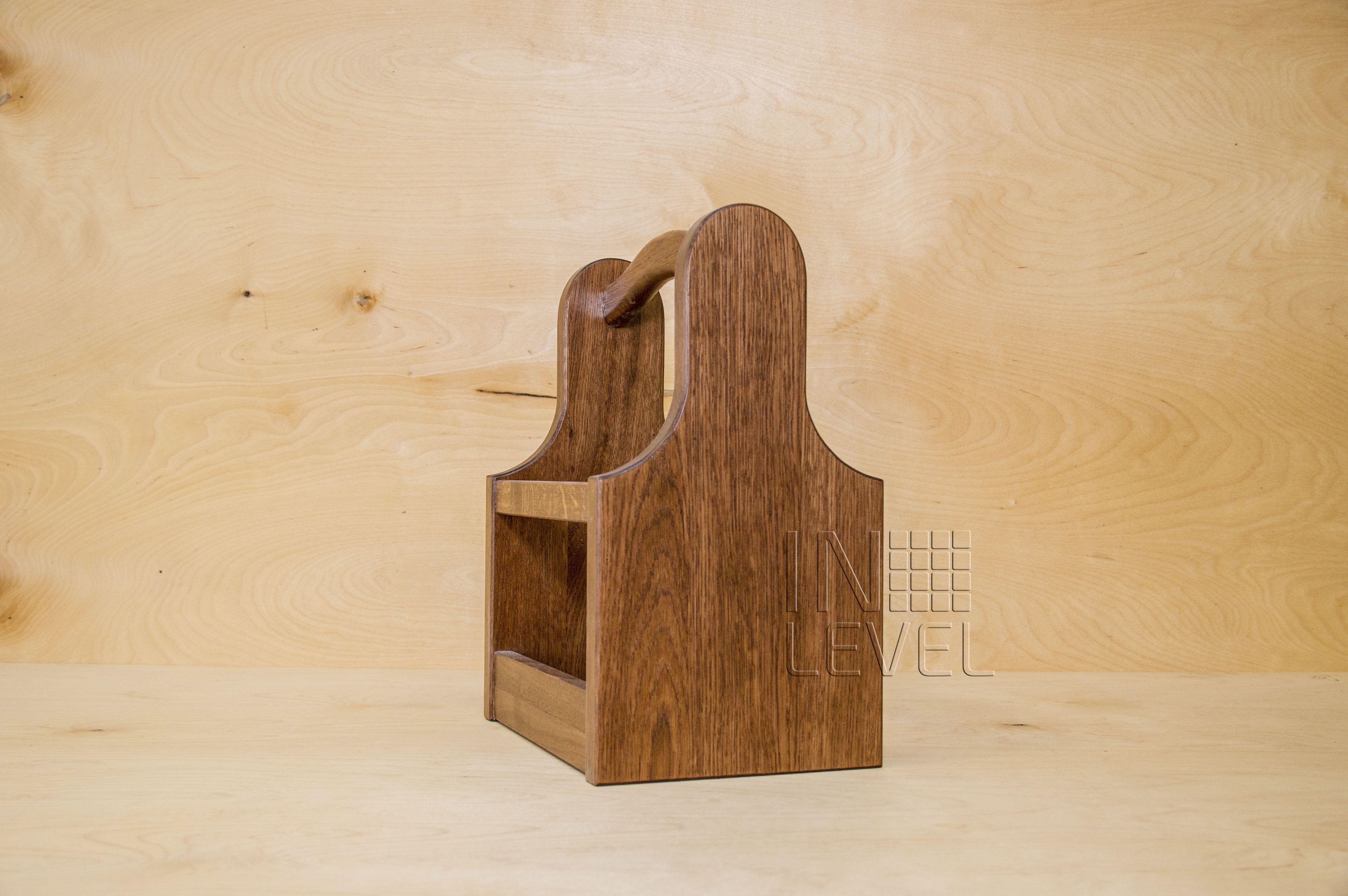 wood interior box beer oak holder
