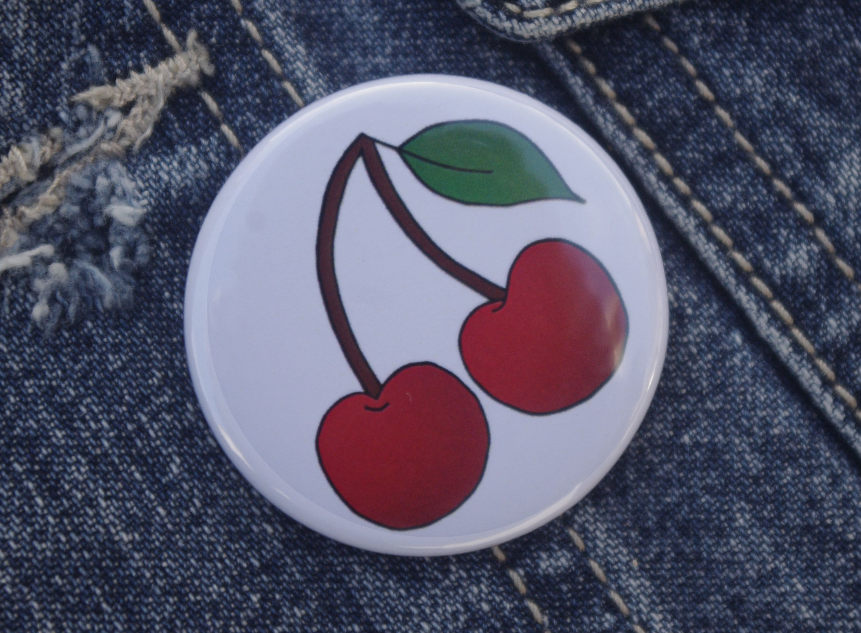 rockabilly accessories gift cherries pin stockingfiller cherry pinbadge badge tattoo clothing