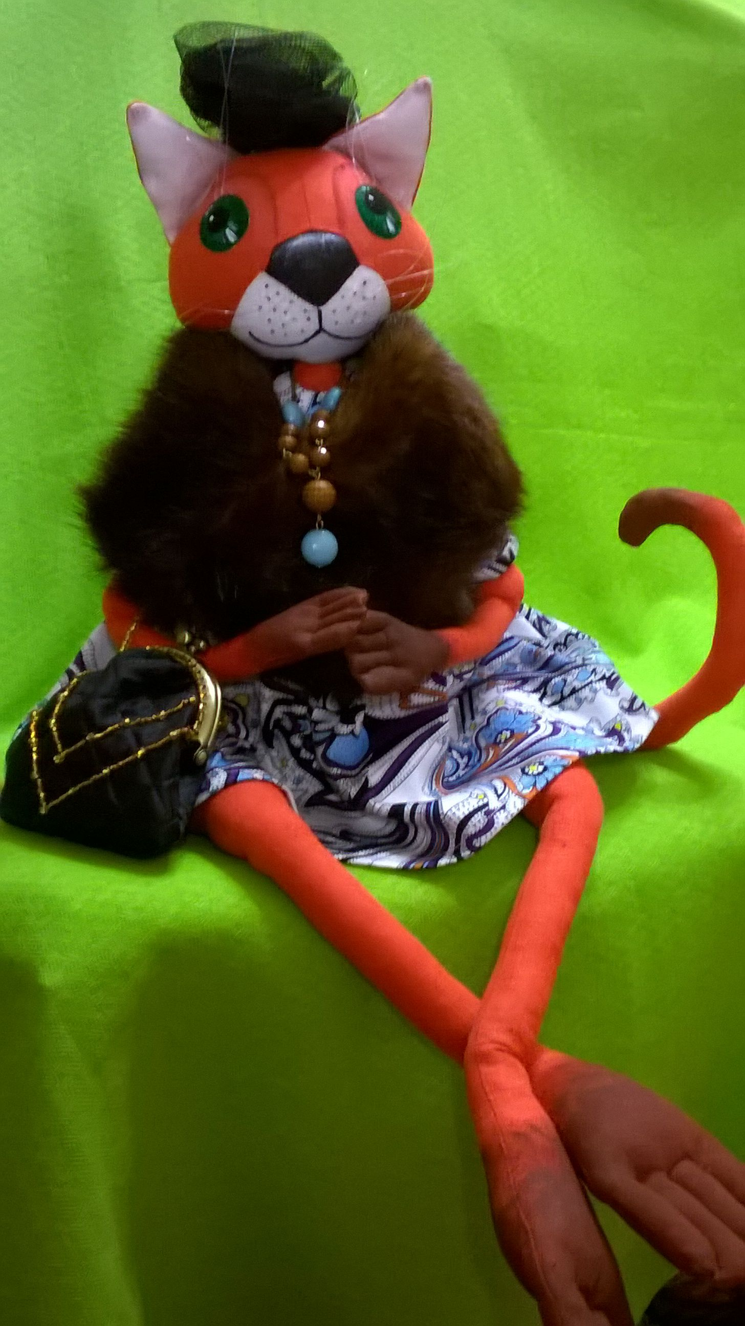 interior doll handmade cat