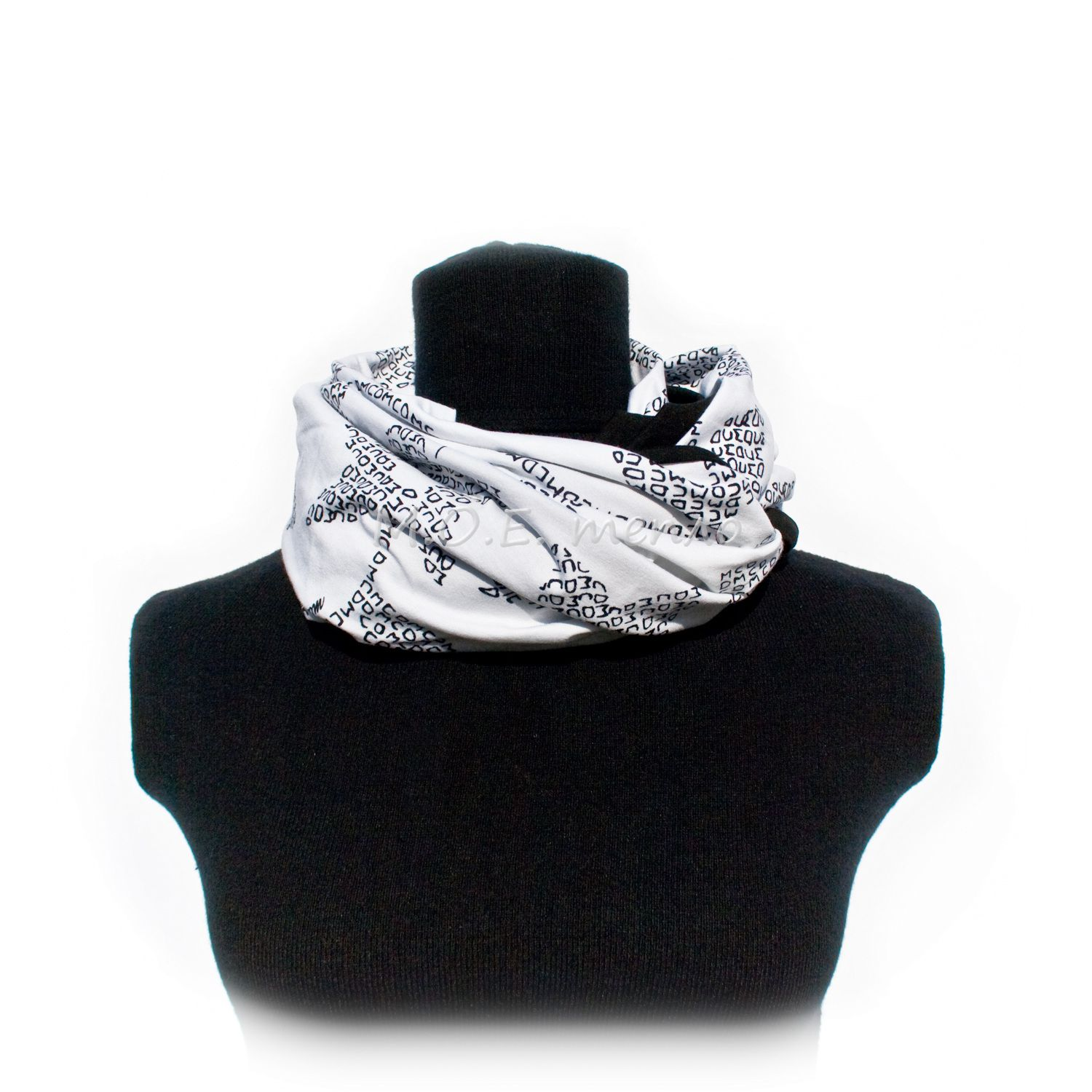 accessories clothes grey scarf neckwarmer white black