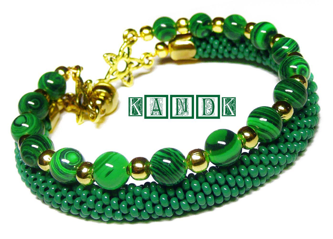 wire malachite handmade bracelet beads memory