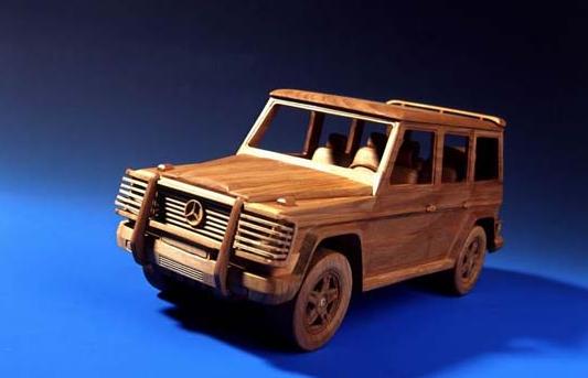 car home handicraft wood modern art