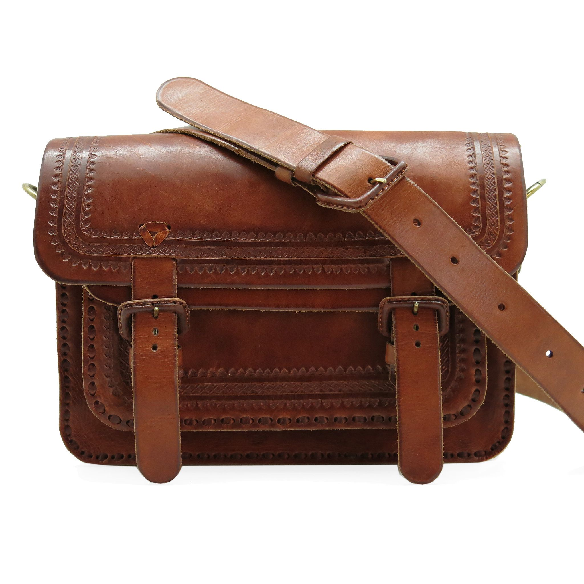 handmade leather bag men acessories