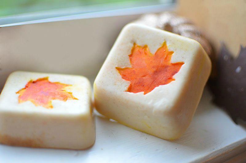 soap oatmeal autumn
