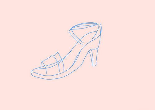 shoes sneakers highheel draw art