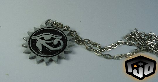 pendant necklace gothic sun eye pagan medallion egyptian horus all seing