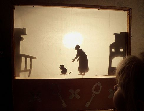 shadow cut make puppets cardboard