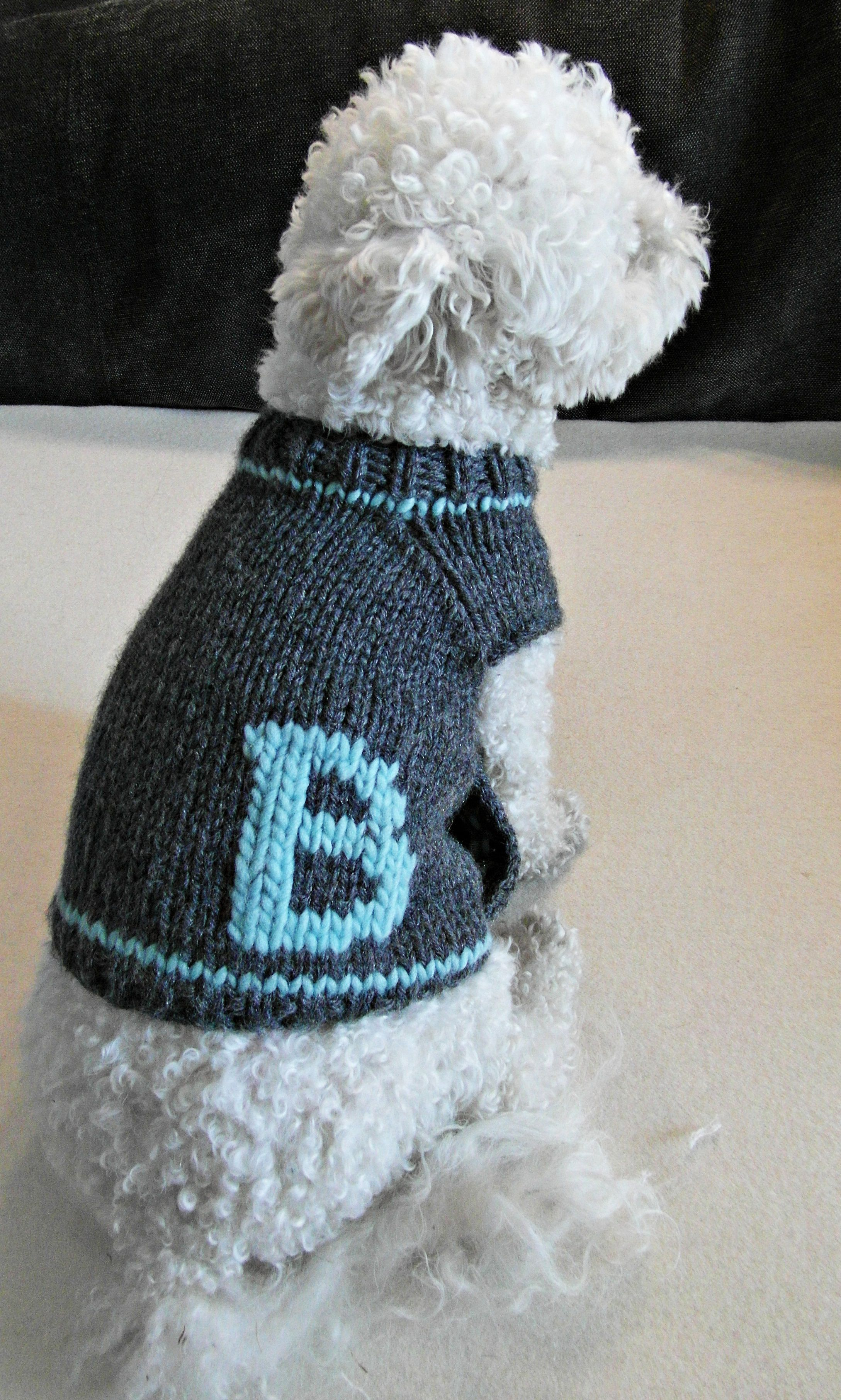 monogrammed apparel clothes sweater personalized dog pet clothing