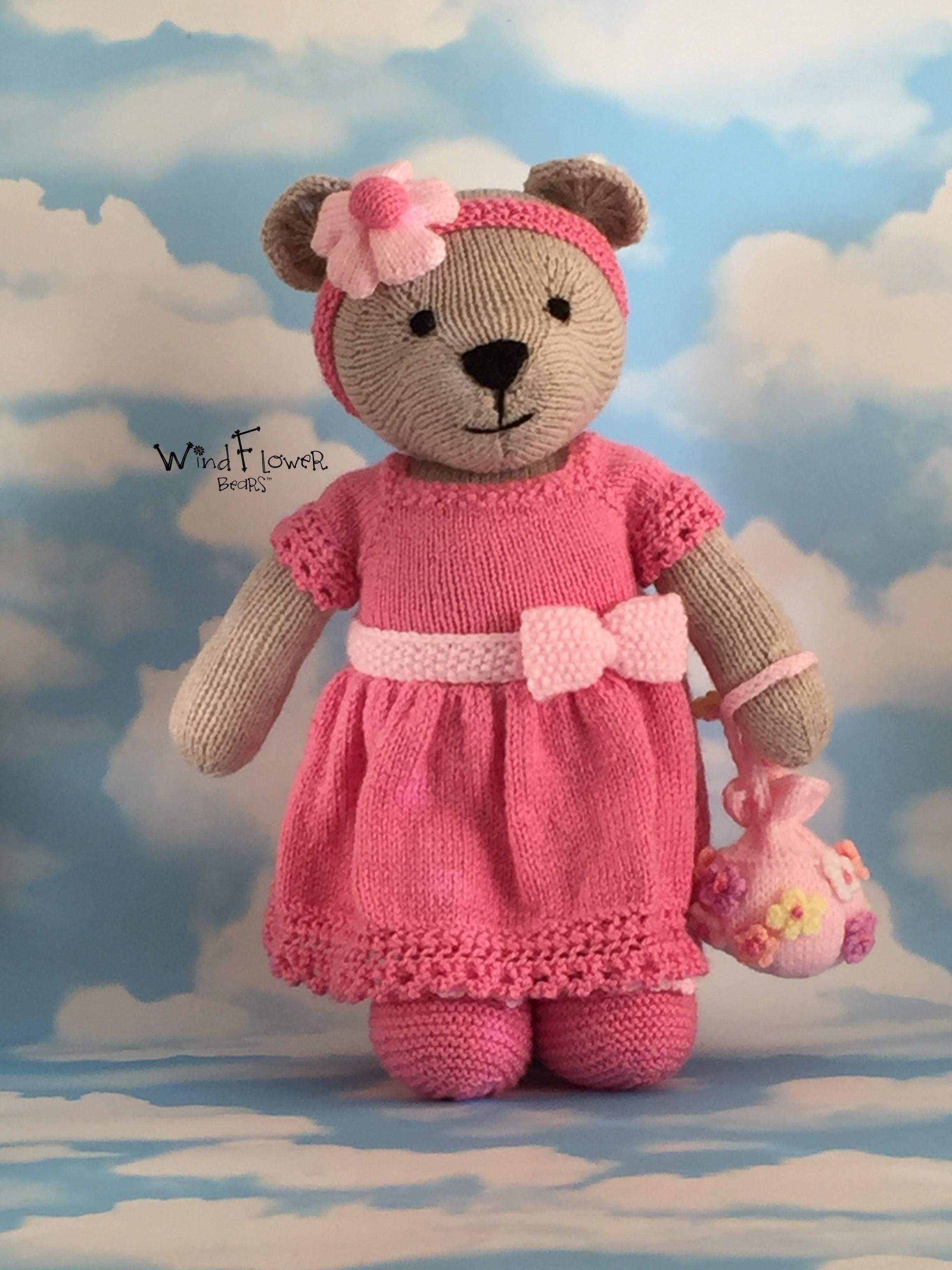 unique gift pink handmade bear