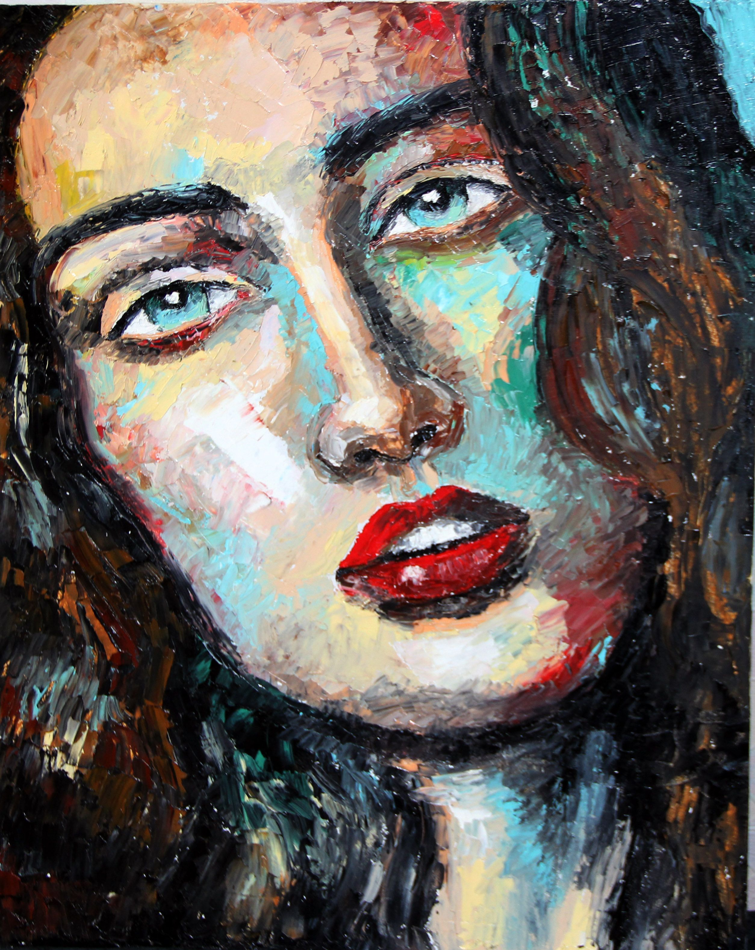 oilpainting portrait people woman