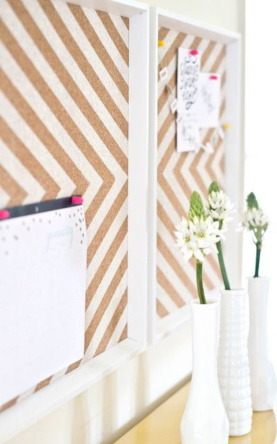 wooden instruction cork board make