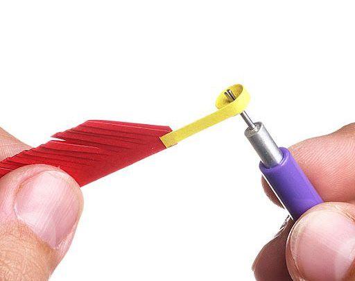 color idea starter start quilling glue paper flower