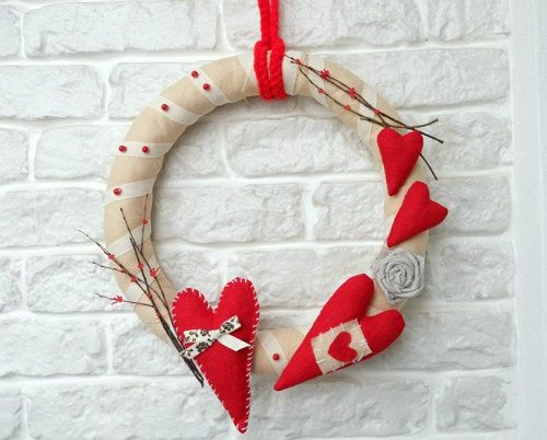 valentines day wreaths holidays decorate