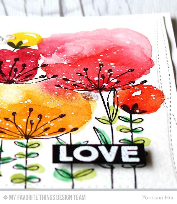 watercoloring gift card art