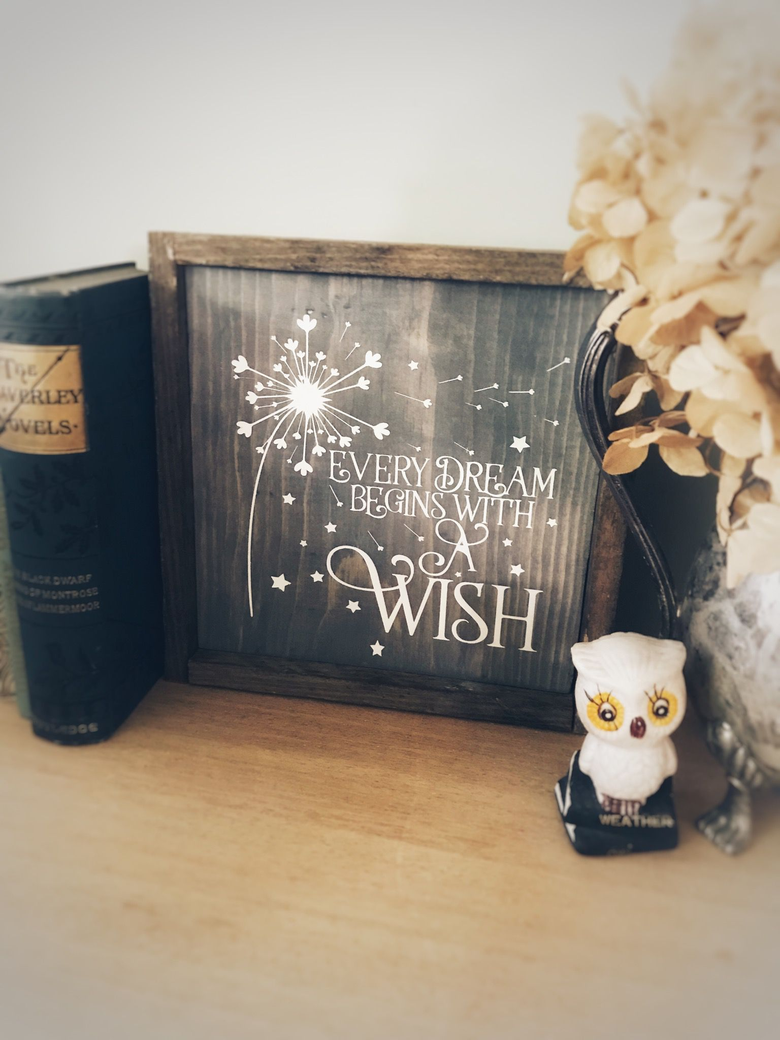 dream sign every begins with wish inspirational business small