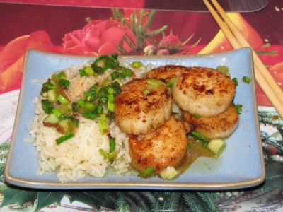 ingredients scallops cookery cook recipe