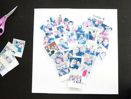 photos decorate gift heart make
