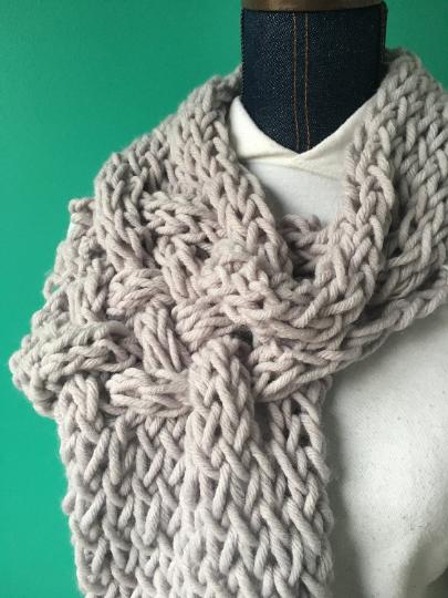scarf unique gray knit arm warm woven