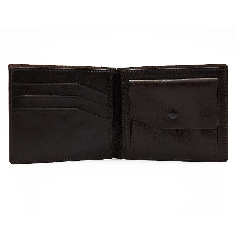 handmade leather accessories brown wallet