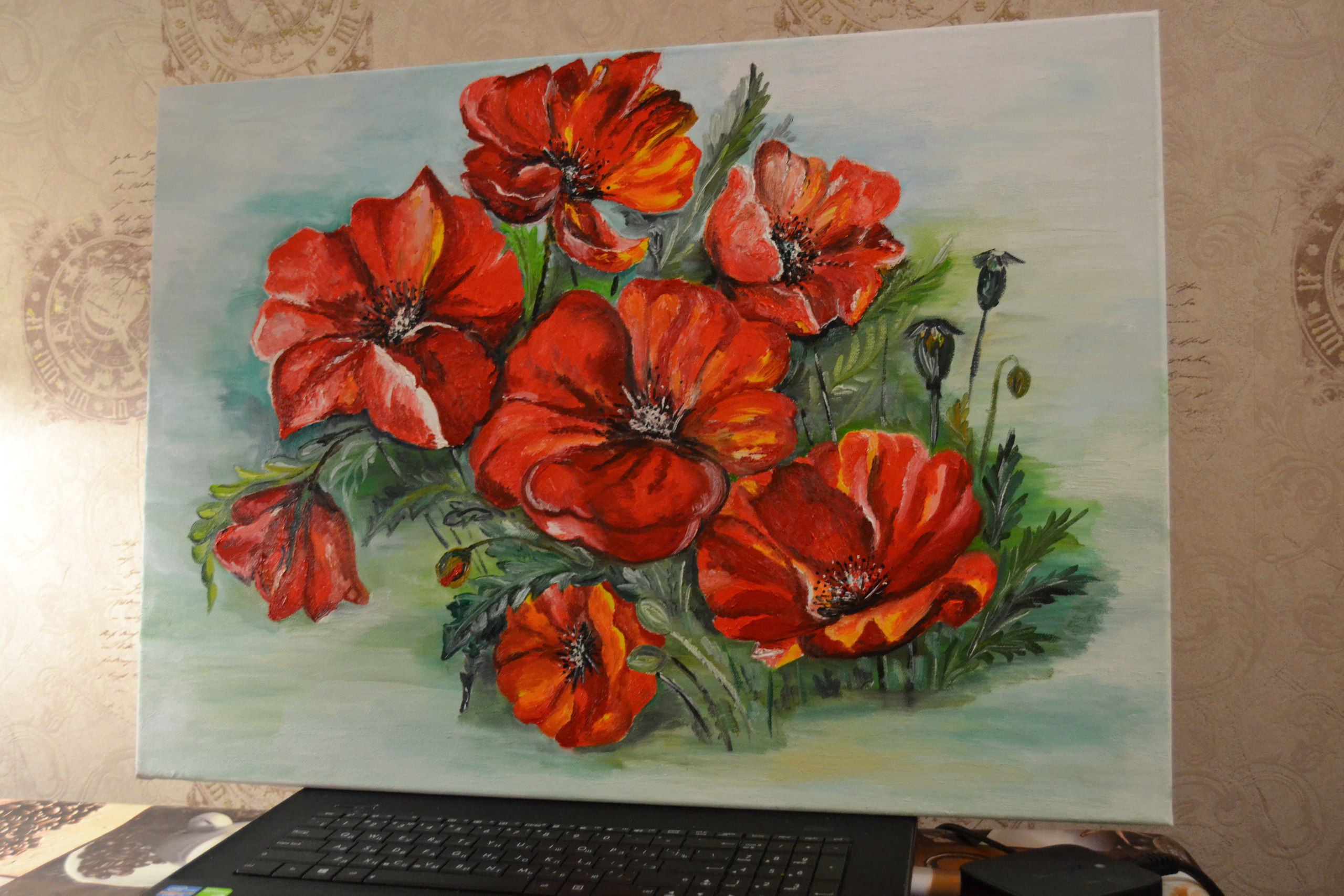 flowers interior picture painting art