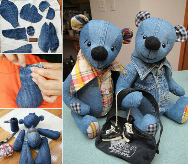 upcycle teddy softie recycle teddybear