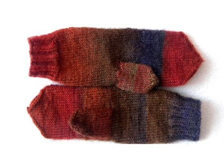 goods textile spokes knit mittens materials