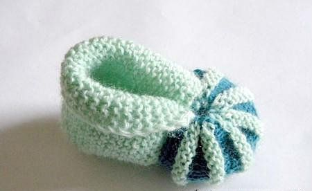 goods baby textile knit needles booties