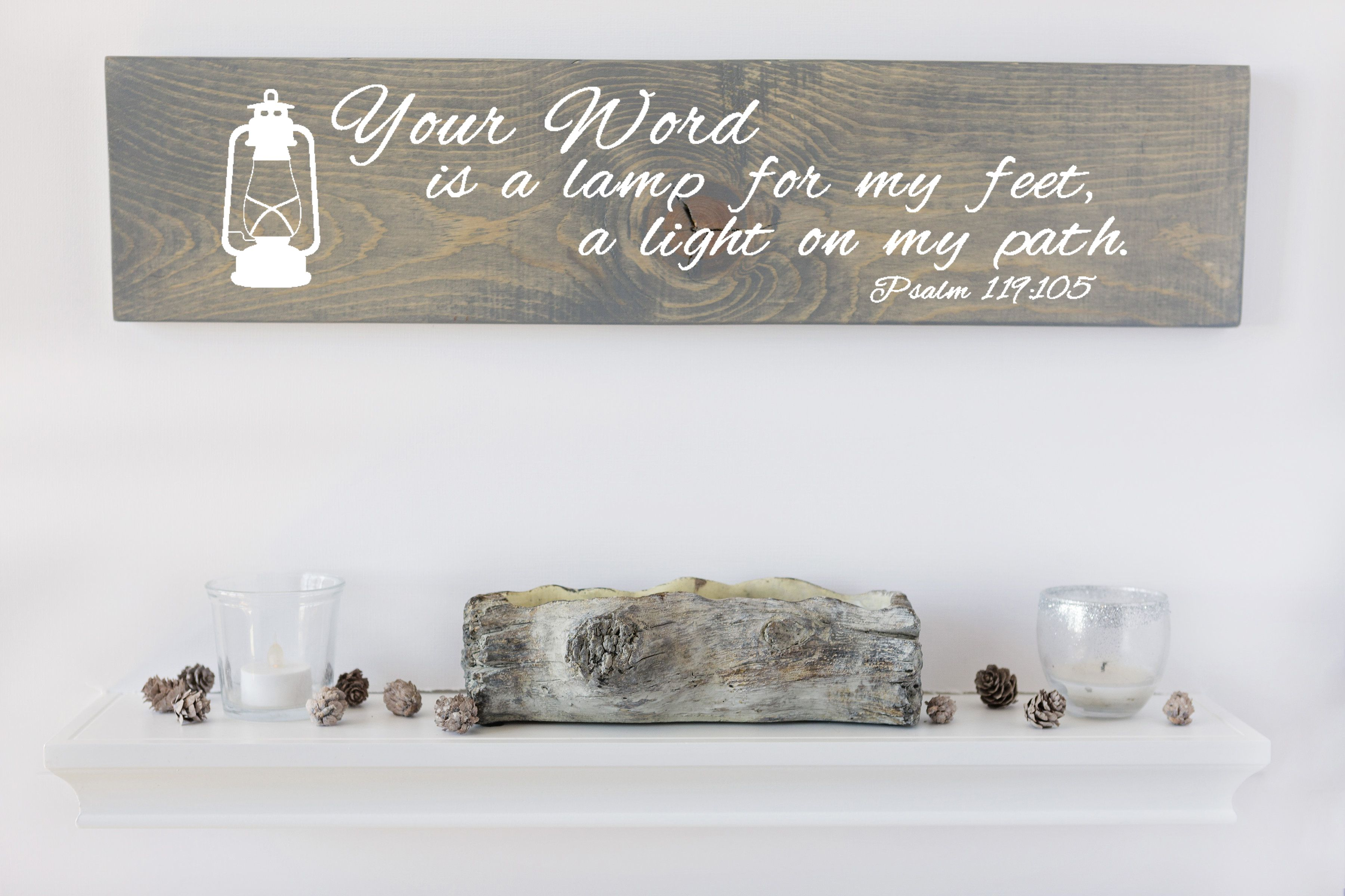 Your Word Is A Lamp Sign Verse Sign Christian Decoration Christian Gift Gifts For Her Wood Wall Art Christian Wall Art Gifts For Wife