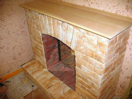 fake fireplace decoration pedestal frame make