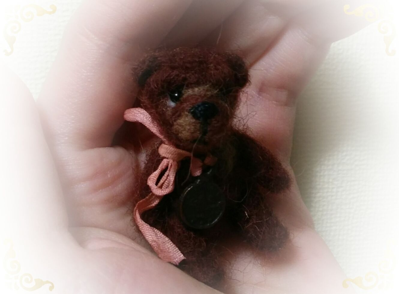 toy gift wool bear fulling